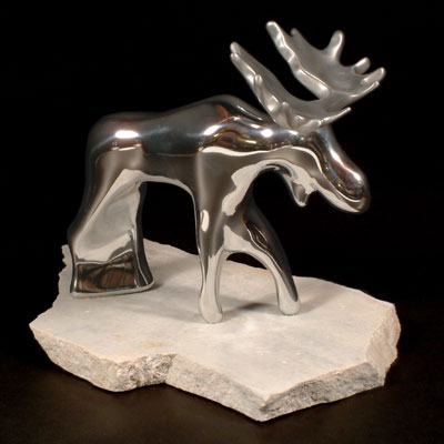 Sculpture en aluminium